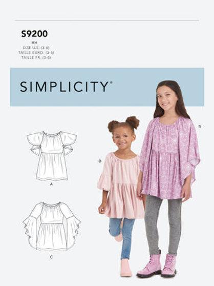 Simplicity 9200 Mädchenbluse