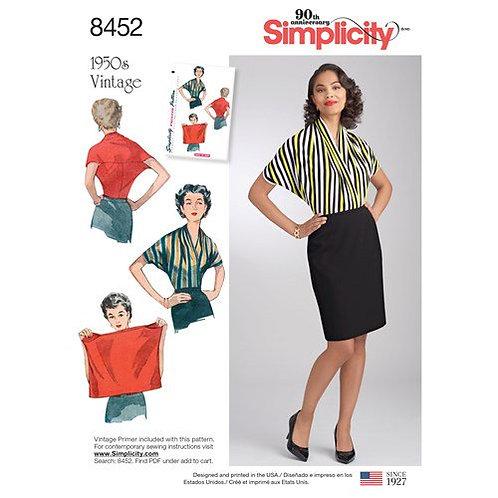 Simplicity 8452 Vintage - Funktionsbluse