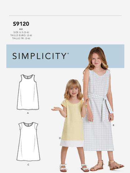 Simplicity 9120 Mädchenkleid