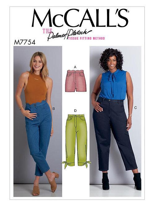 McCall's 7754 Hosen & Shorts mit Bund- und Längenvariationen
