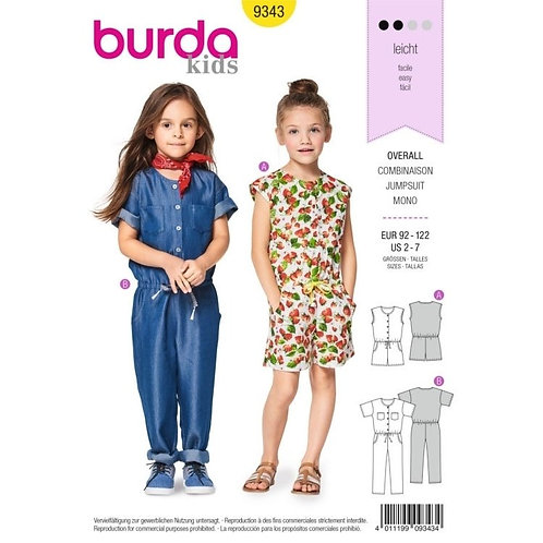 Burda 9343 modischer Overall