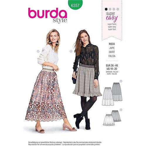 Burda 6357 A -Linienrock