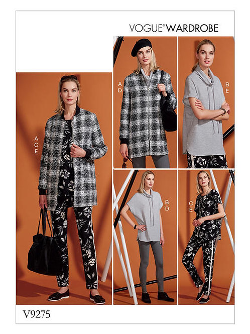Vogue V9275 Tunika, Jacke, Leggings, Shirt & Hose