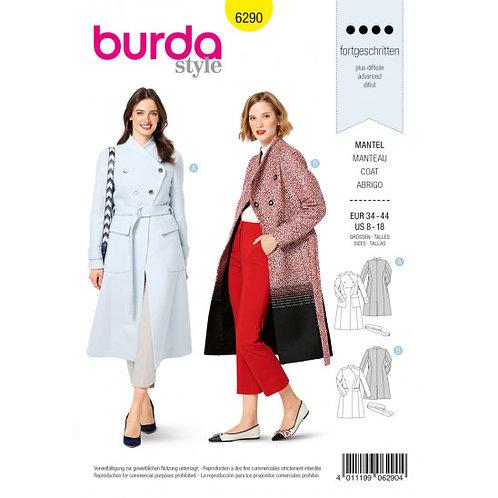 Burda 6290 angesagter, klassischer Mantel