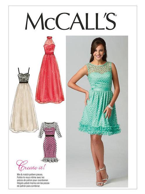 McCall's 6893 Abendkleid mit Sweetheart-Ausschnitt