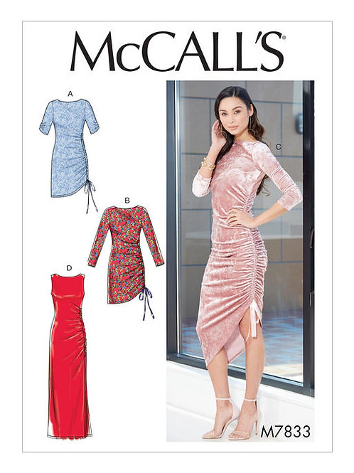 McCall's 7833 Jerseykleid mit Raffungen