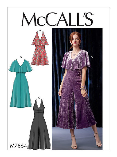 McCall's 7864 Kleid & Overall