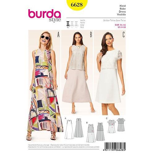 Burda 6628 A-Linien Kleid