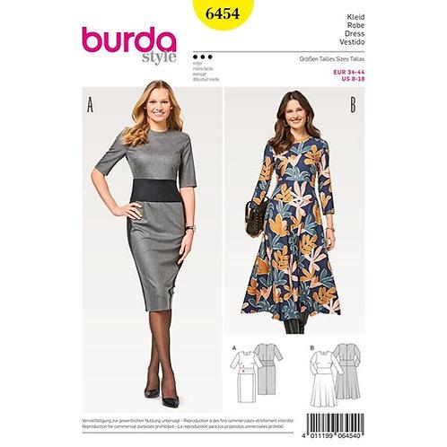 Burda 6454 festliches Damenkleid