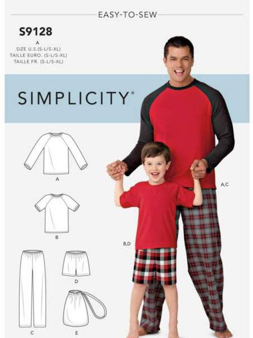 Simplicity 9128 Hose und Shirt für Vater und Sohn