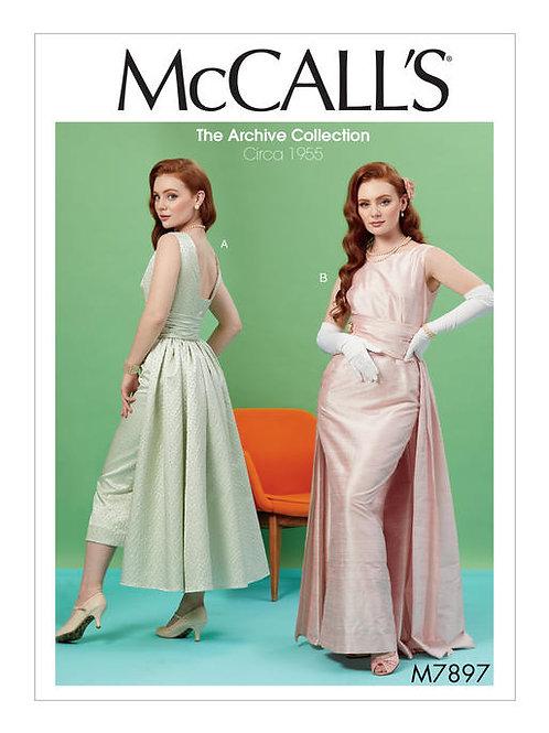 McCall's 7897 Vintage Abendkleid von ca. 1955