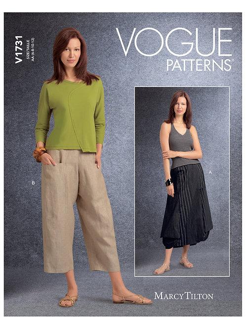 Vogue V1731 Hose und Rock