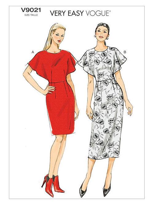 Vogue V9021 tailliertes Kleid