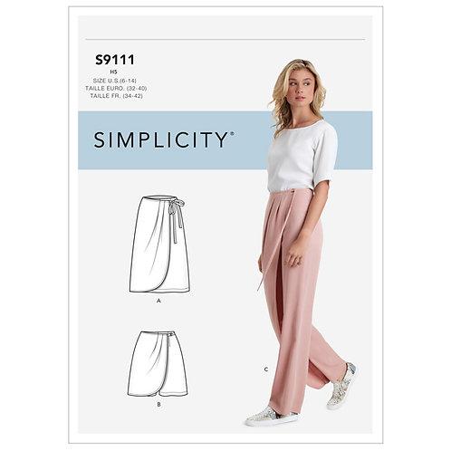 Simplicity 9111 Rock und Hose