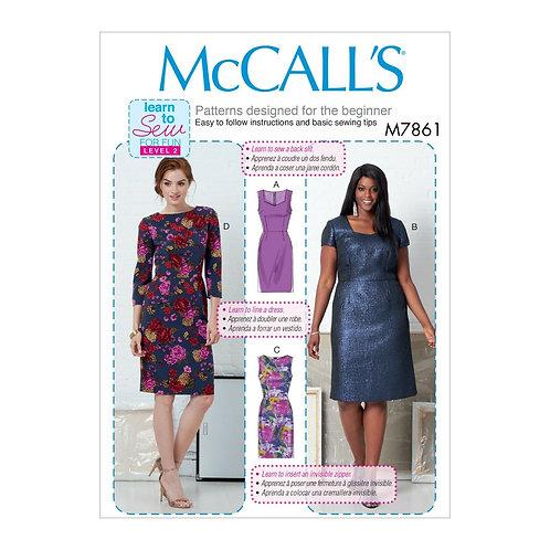McCall`s M7861 Etui-Kleid