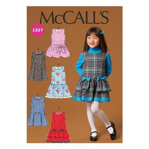 McCall`s M7008 Mädchen Kleid