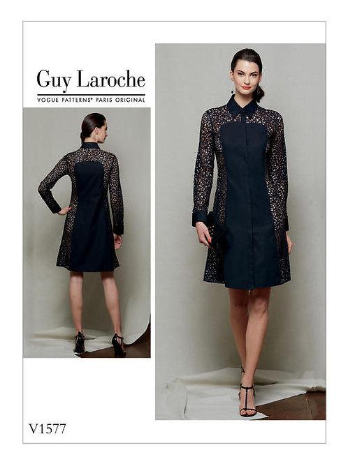Vogue V1577Kleid im Hemdblusenstil by Guy Laroche