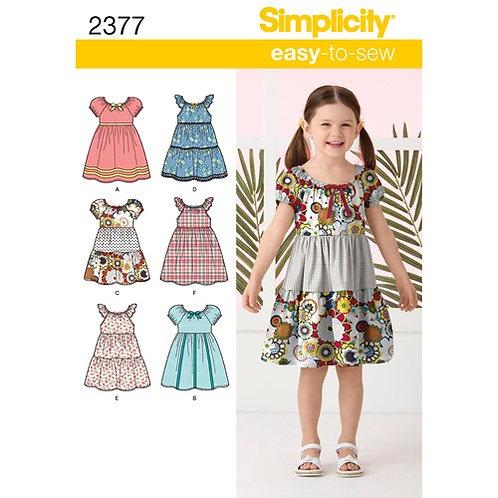 Simplicity 2377 Kinderkleidchen