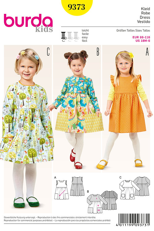 Burda 9373 charmantes Kleidchen
