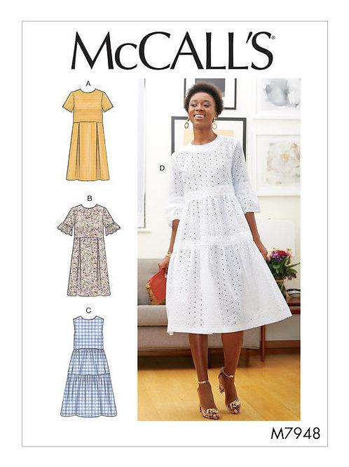 McCall's 7948 sommerliches Kleid mit Varianten