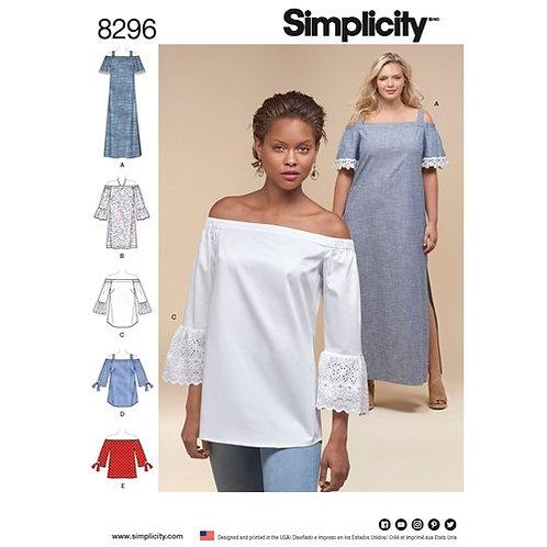 Simplicity 8296 schulterfreies Kleid