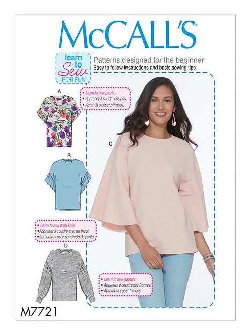 McCall's 7721 lockeres Blusen-Shirt