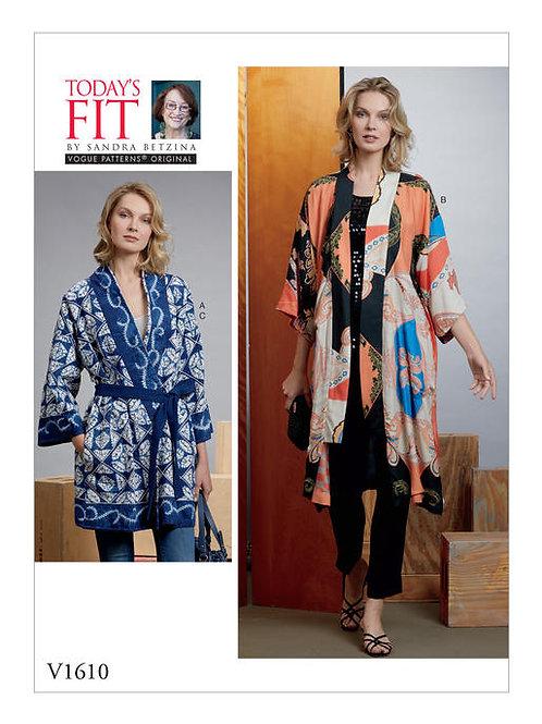 Vogue V1610 Kimono mit Gürtel by Sandra Betzina