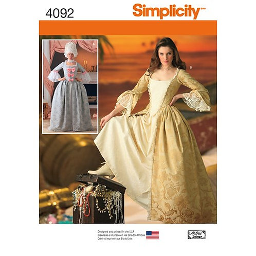 Simplicity 4092 Damen - Kostüm