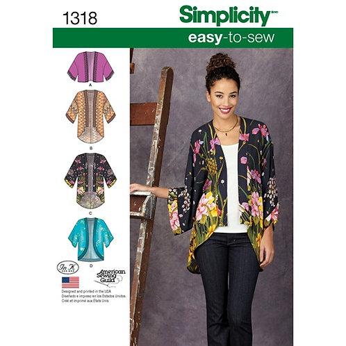 Simplicity 1318 offener Kimono