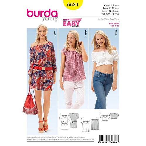 Burda 6684 Kleid & Bluse