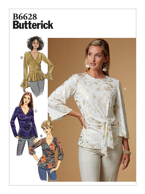 Butterick B6628 Bluse in Wickeloptik