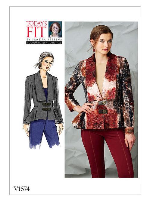 Vogue V1574 modische Jacke mit Schößchendetail