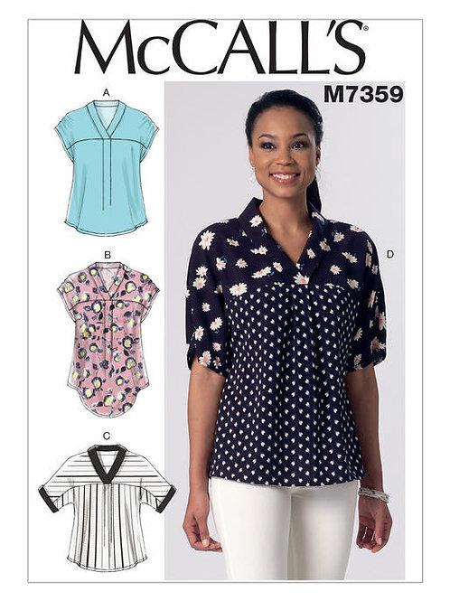 McCall's 7359 klassische Bluse