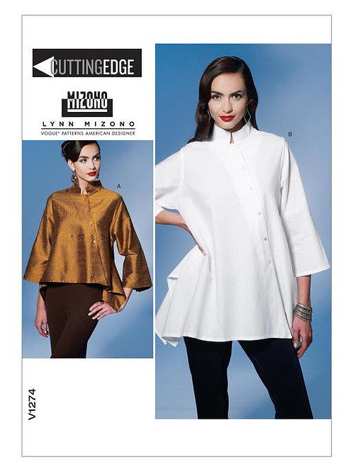 Vogue V1274 Designerbluse by Lynn Mizono