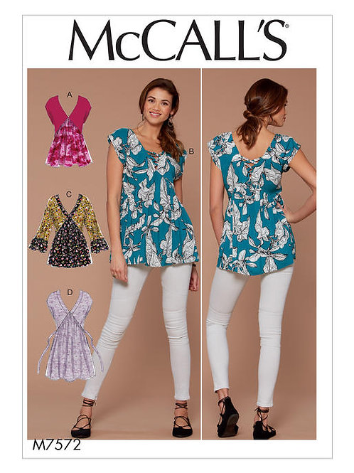 McCall's 7572 taillierte Longbluse