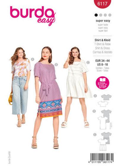 Burda 6117 Shirt & Kleid