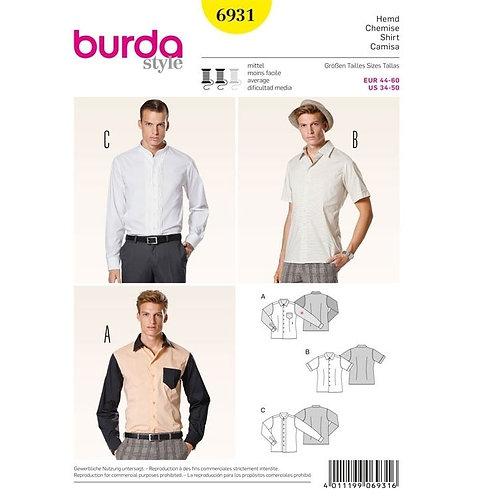 Burda 6931 taillierte Hemden