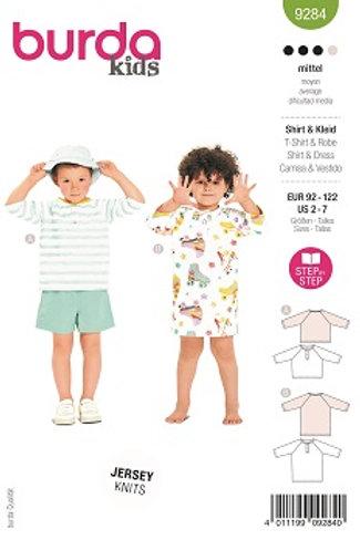 Burda 9284 Kleinkind Shirt & Kleid