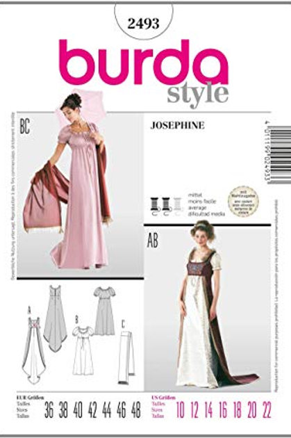 Burda 2493 Josephine - Empirekleid