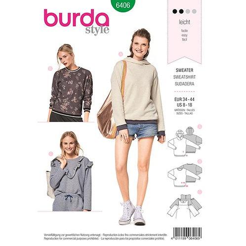 Burda 6406 Pullover, Sweater & Hoodie