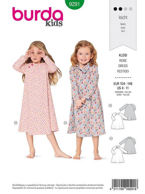 Burda 9291 Mädchenkleid