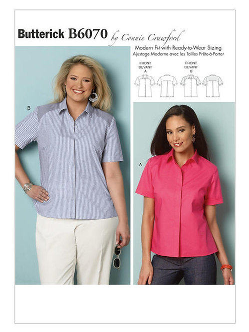 Butterick B6070 lockere Bluse by Connie Crawford