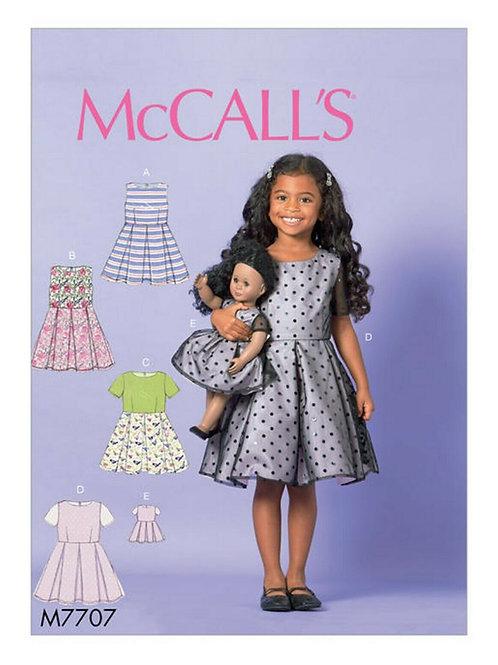 McCall`s M7707 Mädchen-Kleid