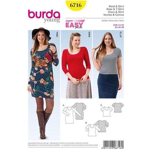 Burda 6716 Shirtkleid & Shirt
