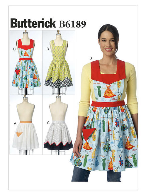 Butterick B6189 Damen - Schürzen