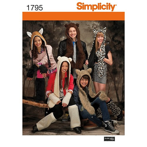 Simplicity 1795 Tierkostüme für Damen, Herren und Jugendliche
