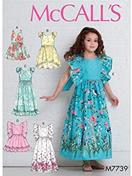 McCall`s M7739 Mädchen-Kleid