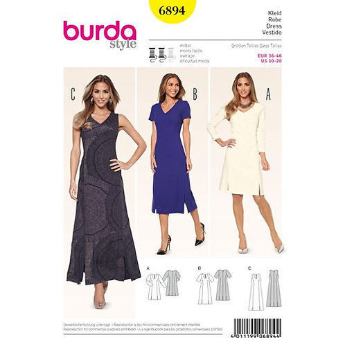 Burda 6894 A-Linien Kleider