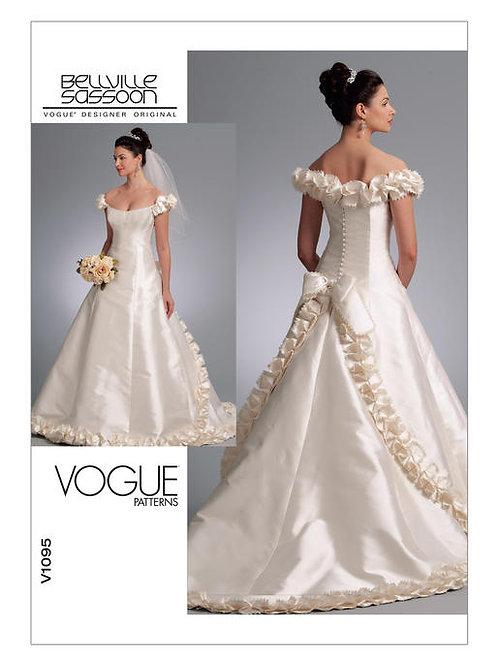Vogue V1095 Hochzeitskleid by Bellville Sassoon