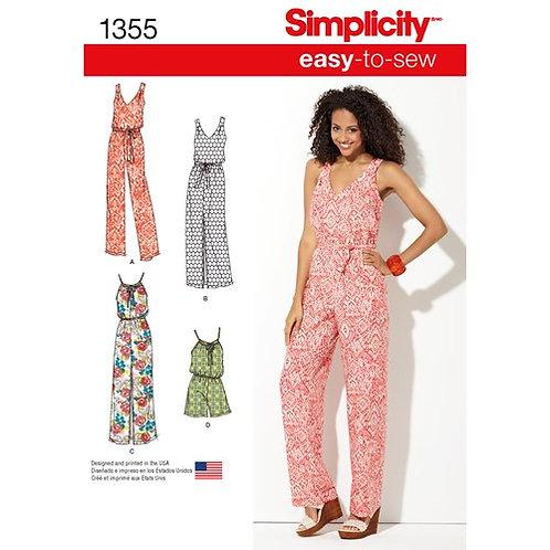 Simplicity 1355 Damen - Overall